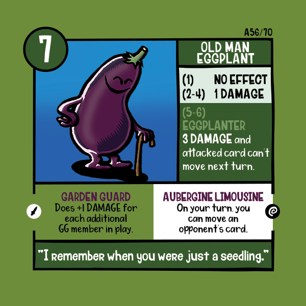 Corrected Old Man Eggplant Card