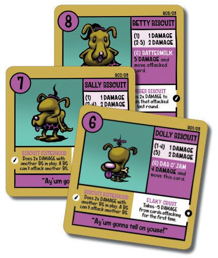 The Biscuit Sisters 3-Card Promo Pack for Squirmish